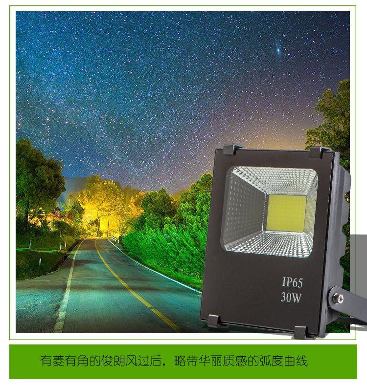 厂家特价直销 5054黑金刚户外防水LED投光灯 50W 100W 200W泛光灯