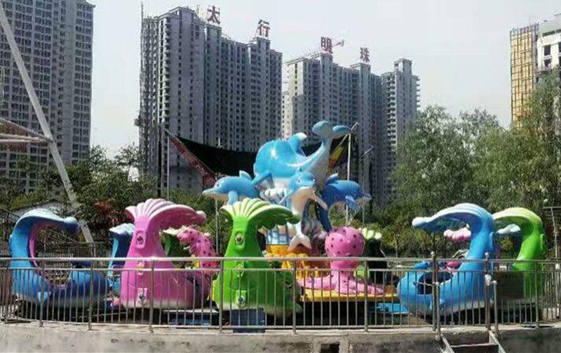 大型户外陆地亲子互动游乐设备激战鲨鱼岛热销