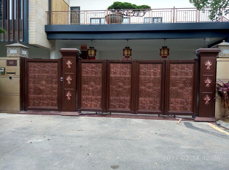 悬浮折叠门工程案例 电动悬浮折叠门 庭院悬浮折叠门 久瑞门业