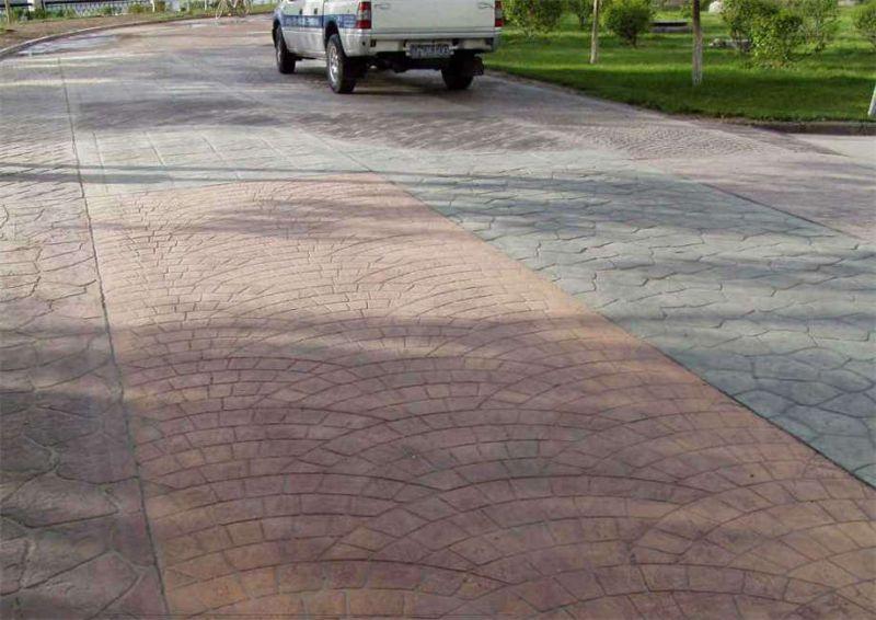 合肥压模地坪,园林道路压模地坪材料生产工厂