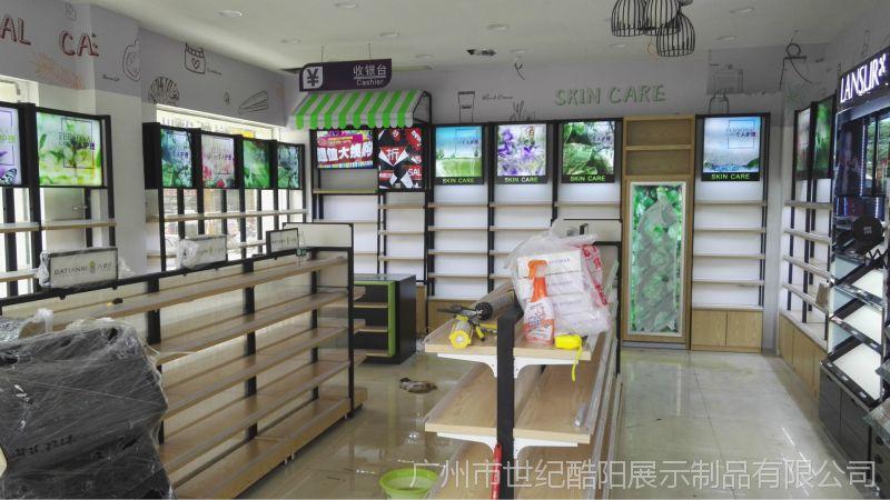 化妆品店柜台装修设计化妆品展示柜定制陈列教学设计基本原则的图片