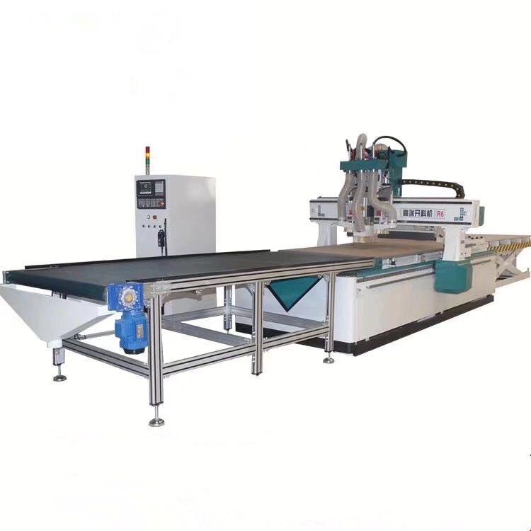 双主轴加钻包板式家具柜体生产高端数控开料机