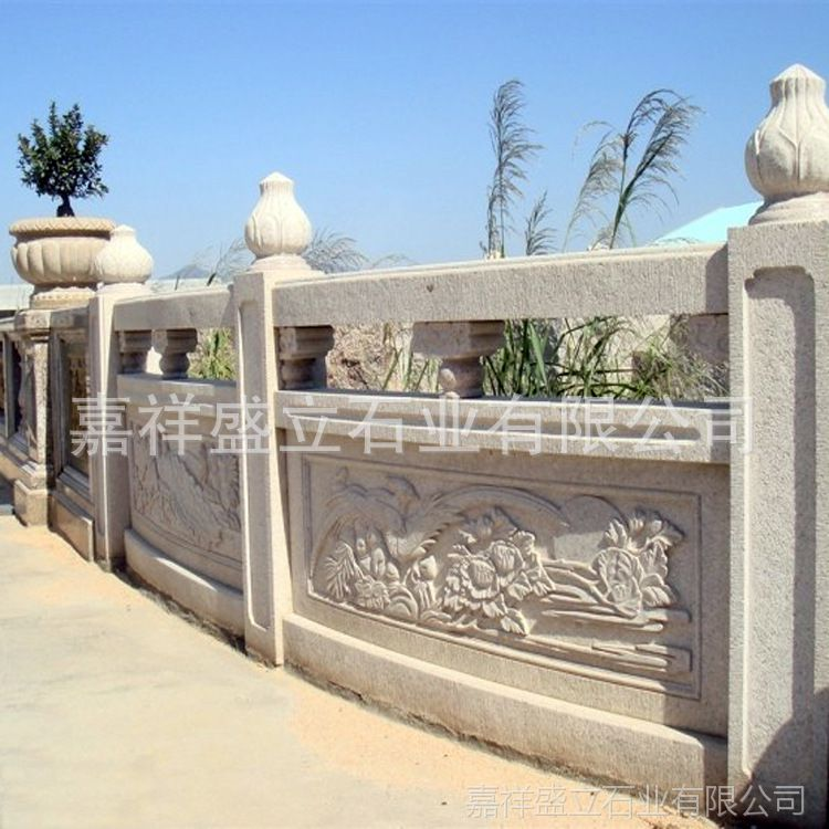 厂家批发优质石材栏杆 大理石多品种石栏杆雕刻