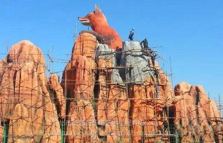 主题乐园规划设计施工方案水泥直塑塑石假山景观工程3D建模效果图