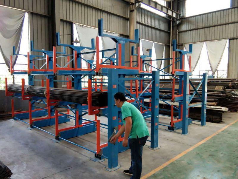 铜棒存放 伸缩悬臂结构 重型货架 存放方便安全 成本低