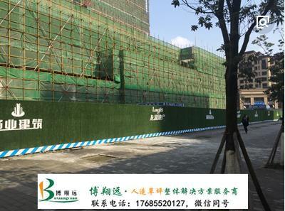 拼色草皮围墙为城市建设穿绿衣