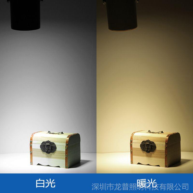 led轨道灯18w吸顶明装射灯服装店铺背景墙展厅导轨灯