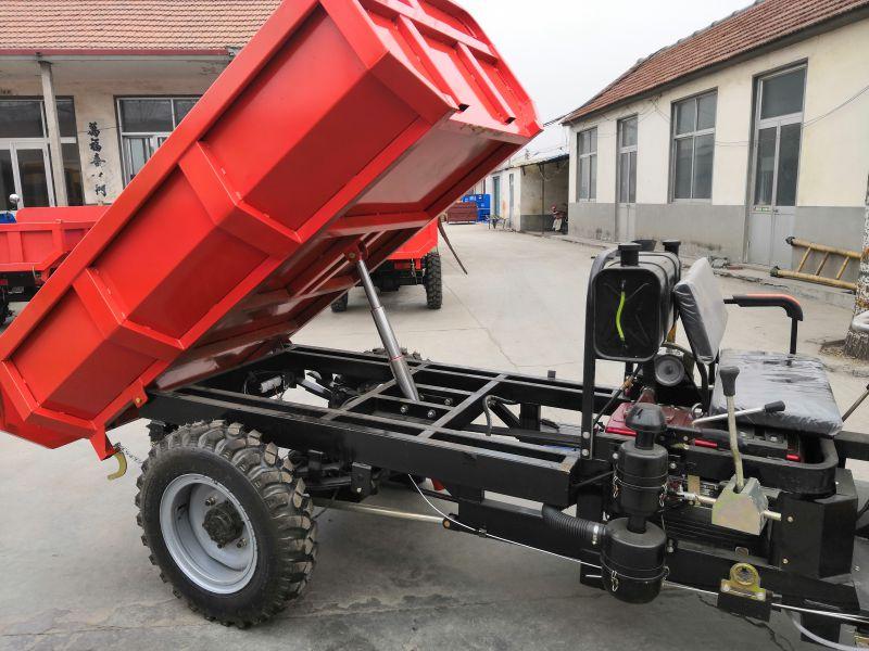 液压自卸一键启动翻斗车,工程工地高低速三轮车