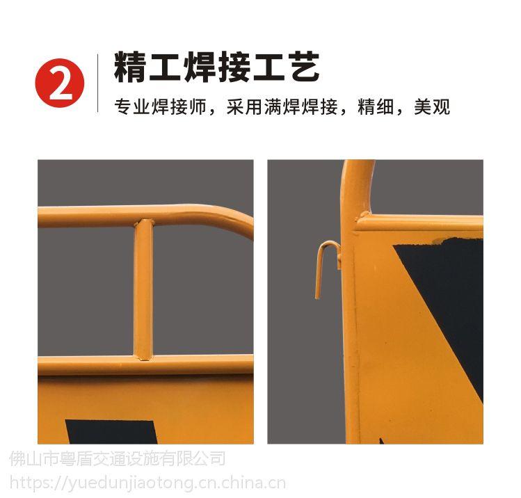 佛山厂家 粤盾交通市政护栏铁制弯角铁马安全围栏黄黑铁马隔离栏(图7)