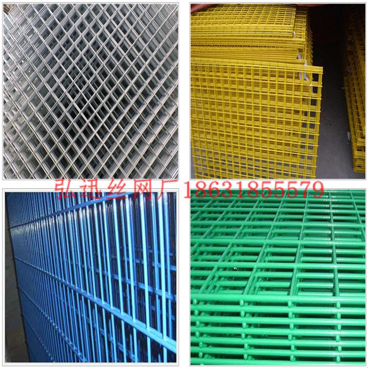 包塑铁丝网片颜色多样_根据客户要求浸塑_弘迅电焊网厂现货网片