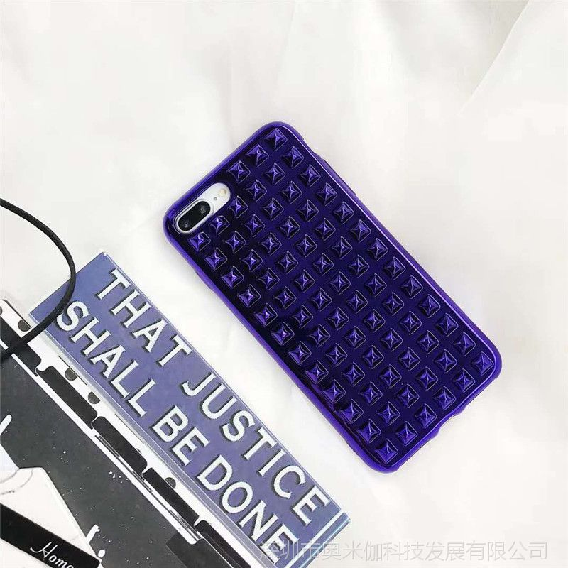 简约立体电镀柳丁款苹果X手机壳iphone 7plus全包6s保护套个性潮
