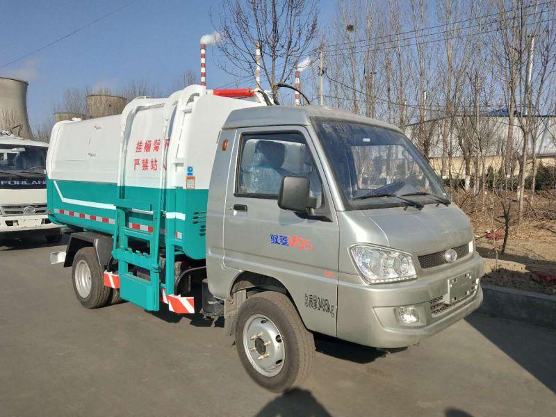 汽油版可以上蓝牌的垃圾车 5方全密封式垃圾车 C证开的垃圾车