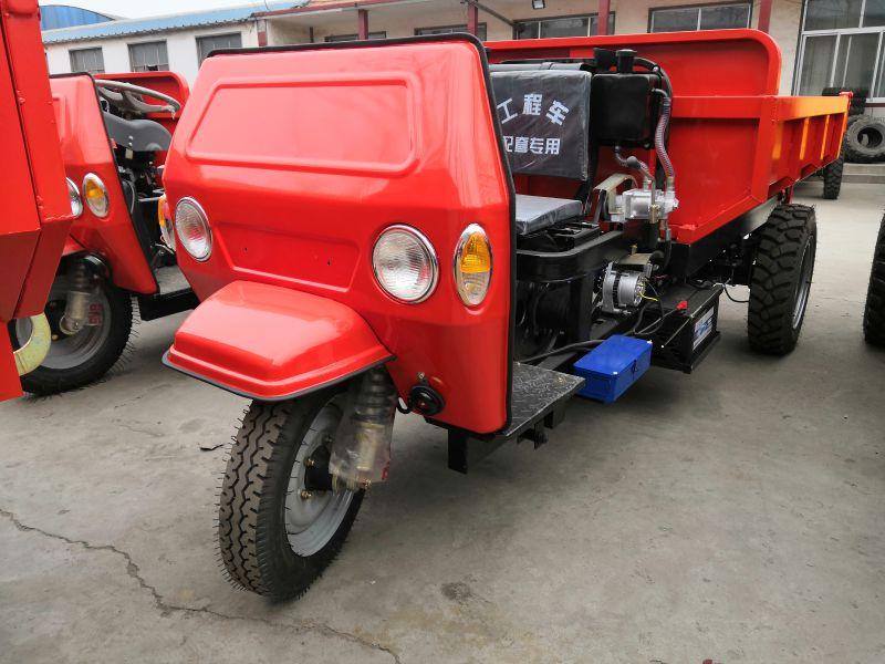 建筑工地电梯专用柴油电动小型三轮车 柴油翻斗自卸工程三轮车