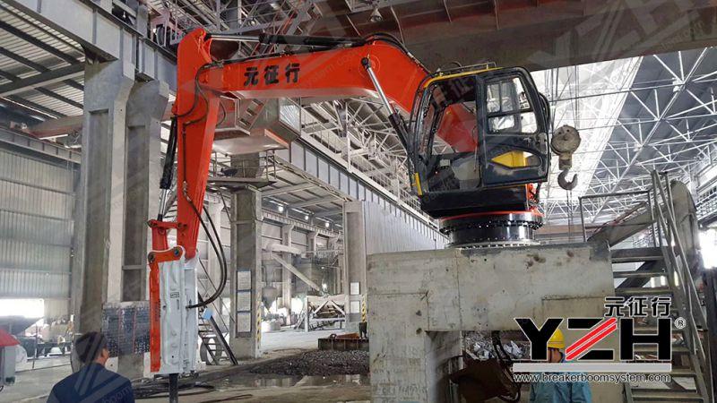 冶金工业固定式液压破碎机械手设备