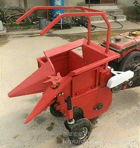 小型玉米还田秸秆粉碎机 手扶小块地玉米收割机