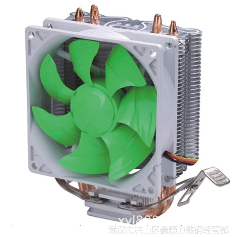 CPU散热器风扇 台式机电脑散热风扇散热管775amd11556超静音铜芯