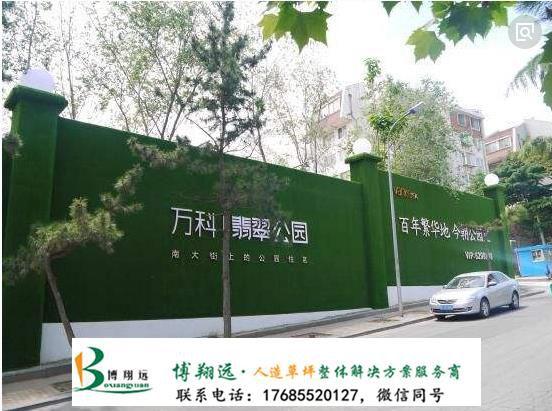 围墙塑料草皮(案例:阜康、重庆)