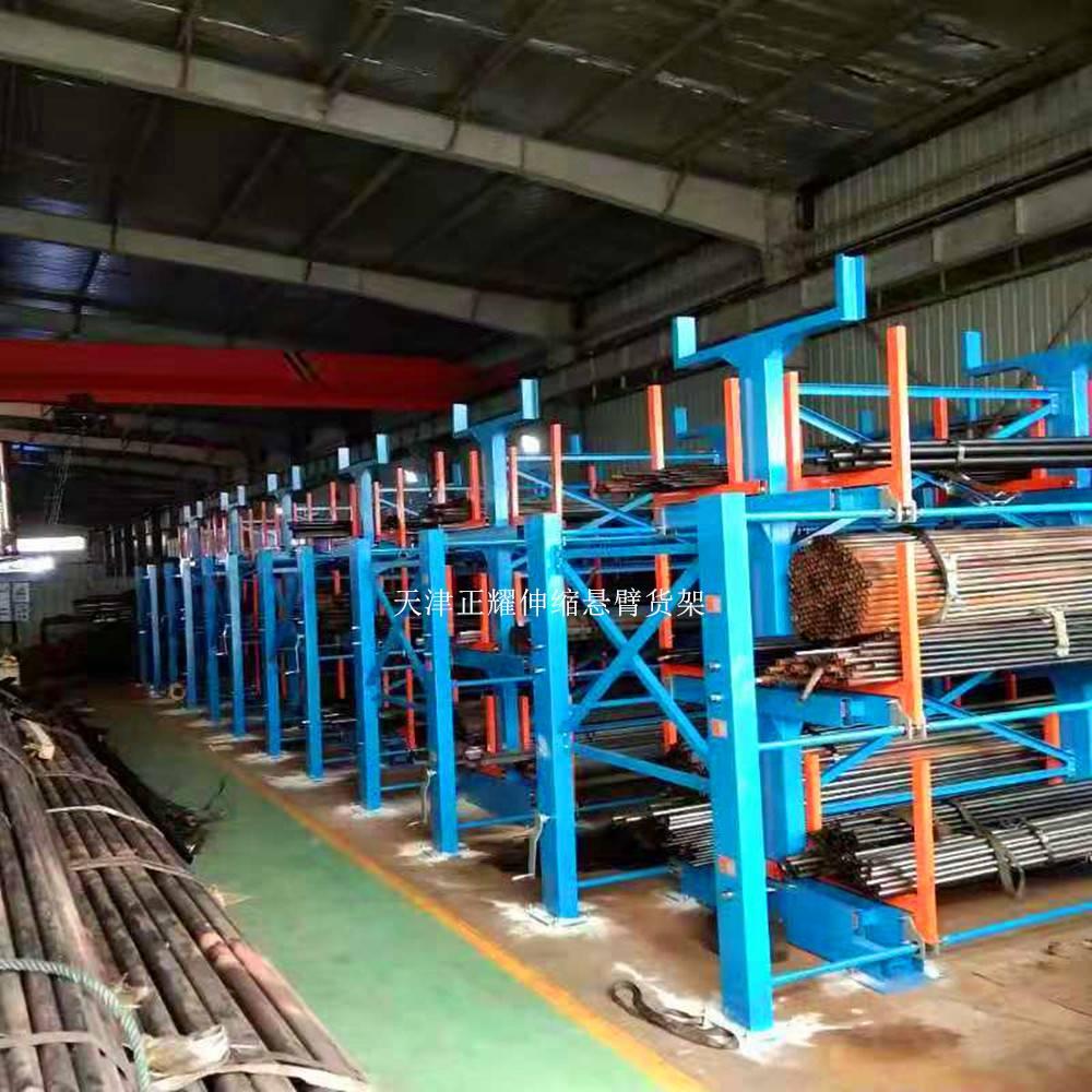 江西管材货架报价表 伸缩式货架 管材库专用 6米钢管存放方法