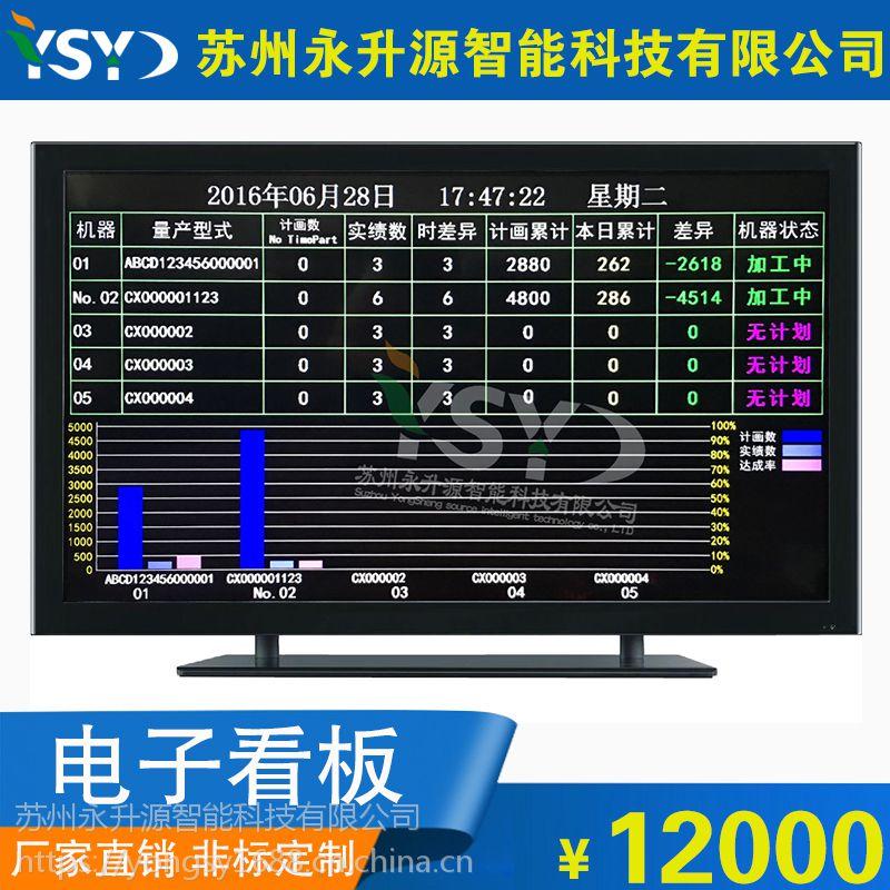 苏州永升源厂家直销实时监测公示屏 开关量信号产品自动计数 差异率完成率PLC