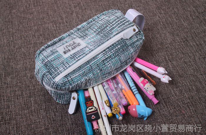 创意简约铅笔盒动作男女大容量笔袋韩国初中生初中学生a动作女生图片