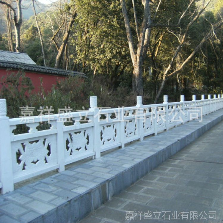 定做石头桥栏杆 公园小区河边花岗岩石雕护栏 量大优惠