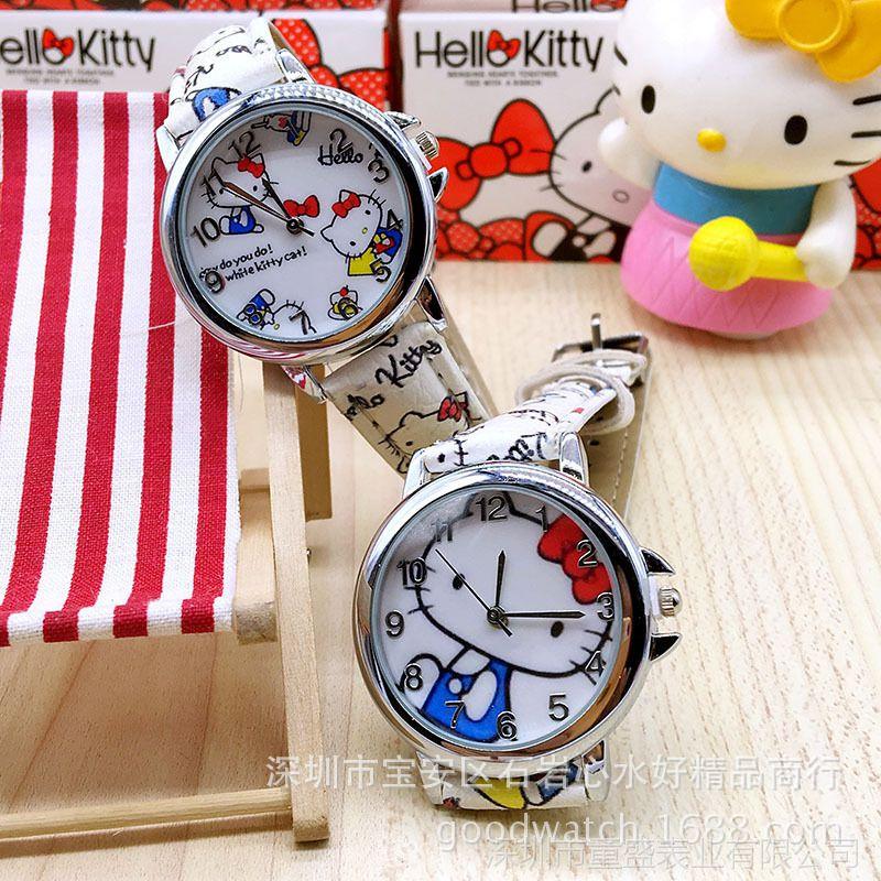 厂家直销Hello kitty儿童彩带手表kt女生女孩手腕表儿童学生手表