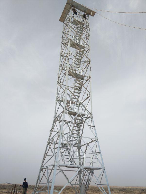 内蒙古防火监控瞭望塔安装视频