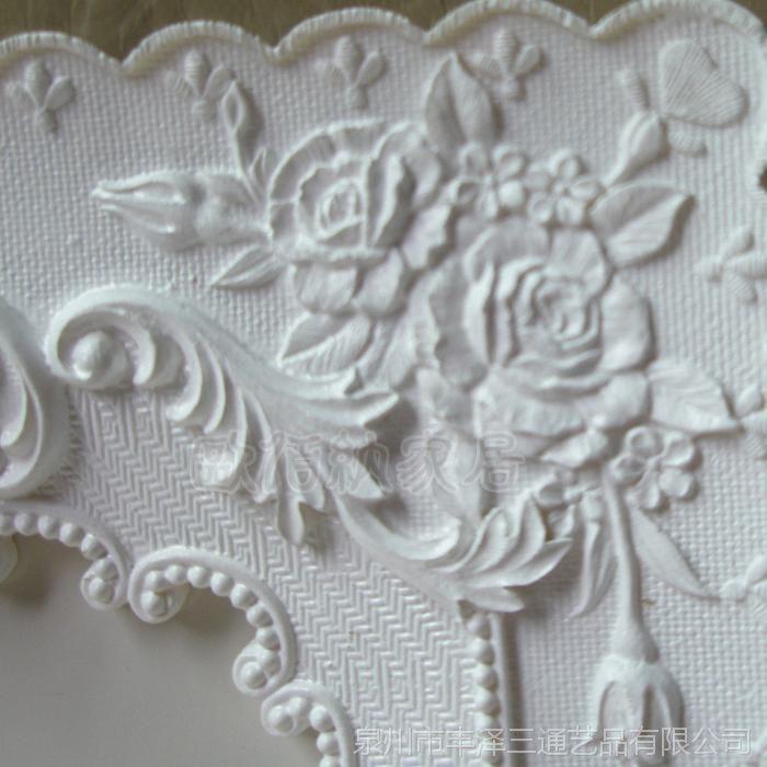 6寸韩版纯白色相框玫瑰花田园树脂欧式相框相架日韩风格相框批发