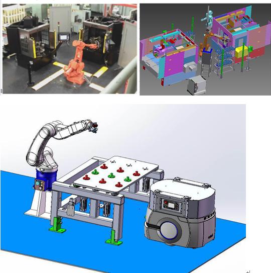 ABB机器人数控车床自动上下料