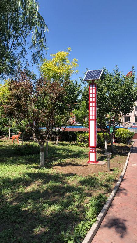 河北唐山3.5米太阳能景观灯成功亮灯