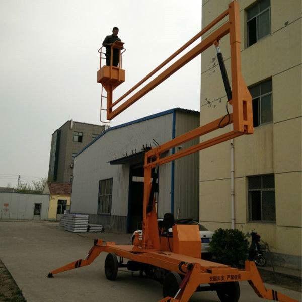 航天直销8-14米柴油机电源两用曲臂式升降车|行走自如