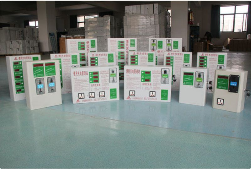 公司各式充电站产品展厅视频