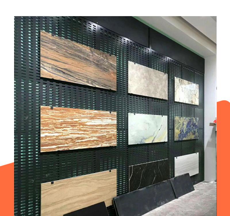强腾展具供应冲孔式石材样板展示架  瓷砖展示架