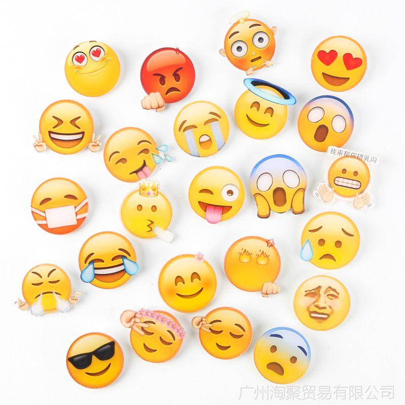 emoji颜徽章亚克力文字表情趣味卡通QQ姓氏图做抖表情包音怎么胸针图片