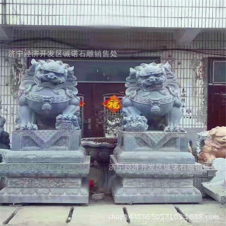 厂家生产石雕跑狮 仿古雕刻 做旧石狮 天安门摆放狮子样式