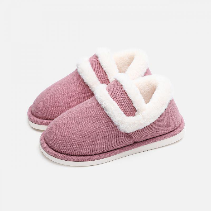 新款冬季家居包跟棉拖鞋居家保暖毛绒月子鞋女拖鞋男冬 EVA鞋底