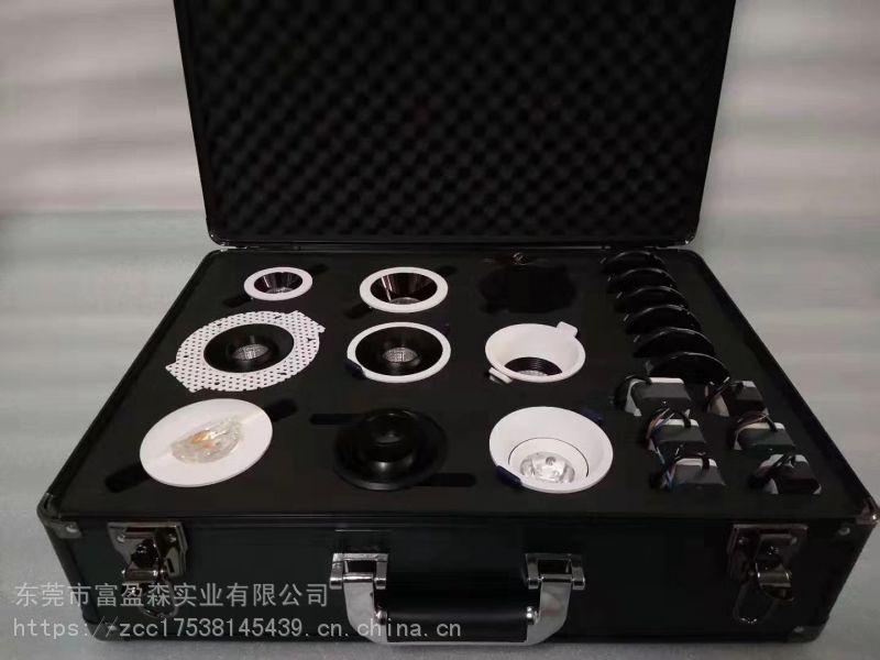 一体成型五金工具箱EVA内衬、CNC雕刻精密仪器箱EVA内衬,高密贴绒海绵内衬