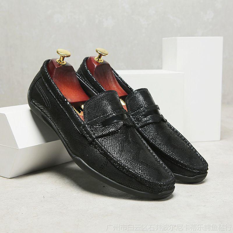一件代发夏季豆豆鞋男韩版男鞋英伦真皮软底休闲皮鞋懒人单鞋子男