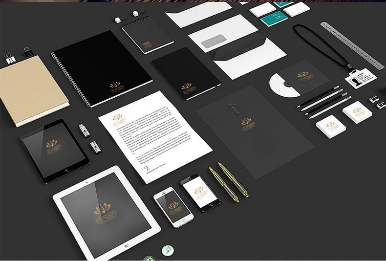 一套简单的vi报价vi设计是小微企业vi设计彩色名片设计软件win10图片