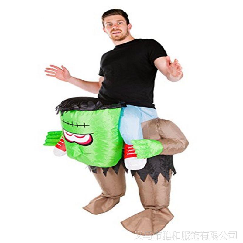 万圣诞节公司年会学校活动表演衣服装科学怪人充气人偶搞笑服道具