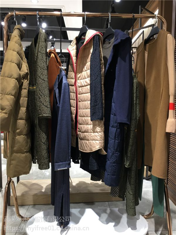 品牌女装尾货走份欧卡桑18年冬装新款羽绒服大衣