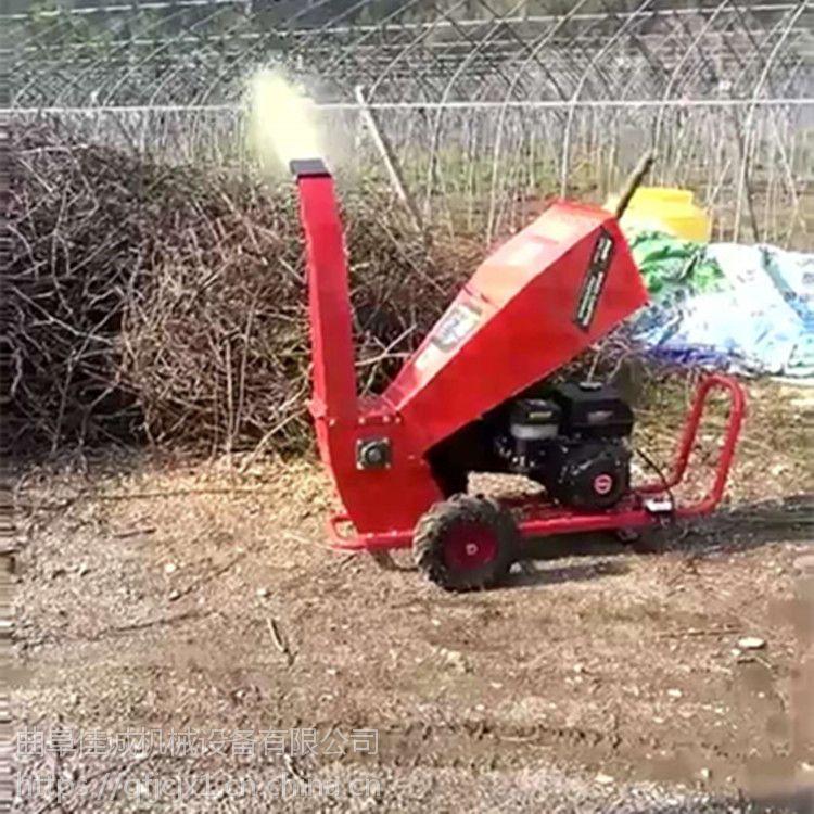 直销小型园林树枝树木粉碎机 汽油机13马力枝叶枝条碎枝机