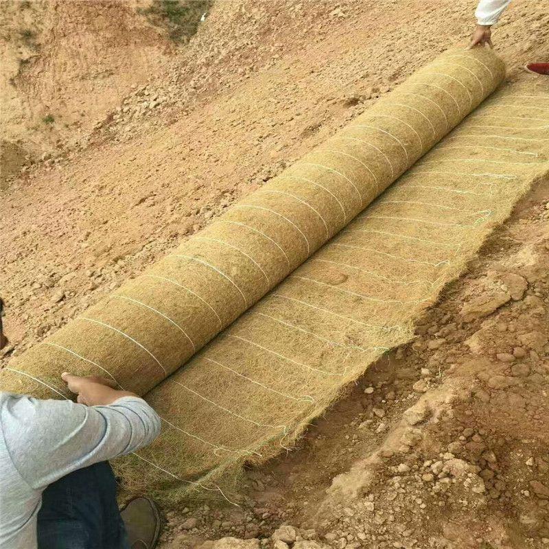 河道护坡抗冲生物毯铺设