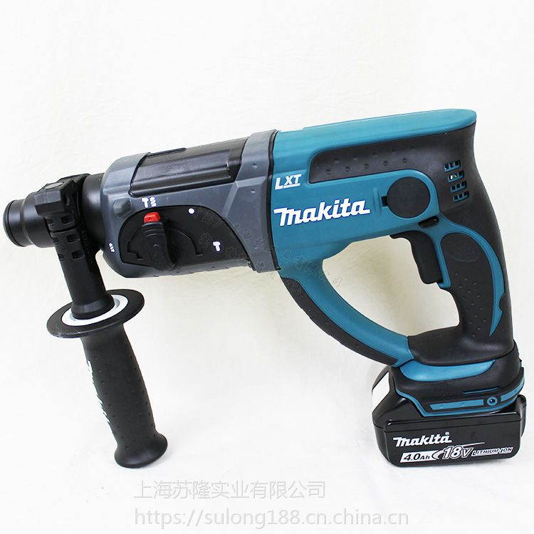 makita牧田DHR202充电式电锤18V多功能锂电冲击钻四坑穿墙电钻电锤电钻电镐三功能 4.0A