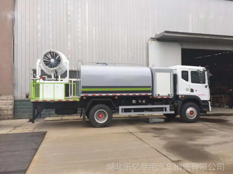 东风多功能抑尘车价格 雾炮喷洒工地降尘车 180马力园林绿化车厂