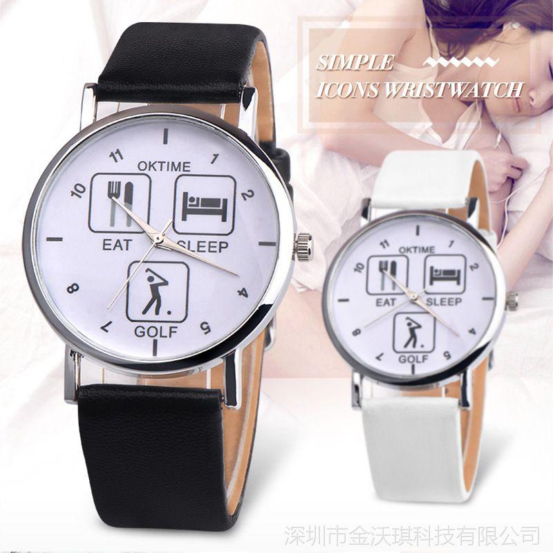 韩版时尚百搭 OKTIME日常生活时装手表女表小清新学生手表批发