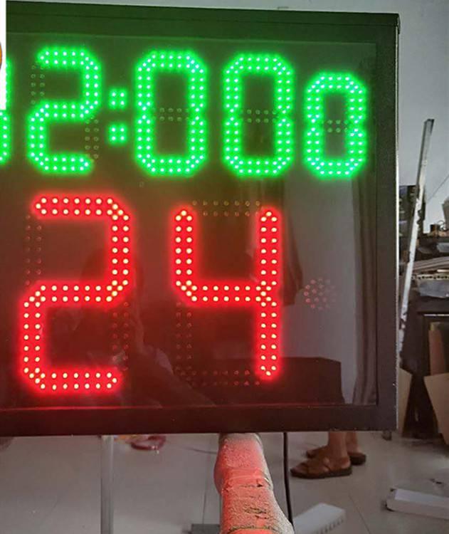供应三面24秒计时器 篮球比赛电子LED24秒违规三面计时器