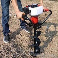 方便手拿的汽油打眼机 行走式栽树挖坑机 四轮悬挂挖坑机报价