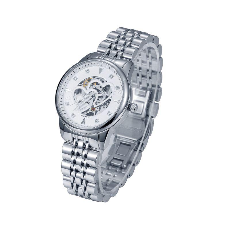 Gezfeel品牌不锈钢时尚女表 镂空机械手表钢表带手表定制