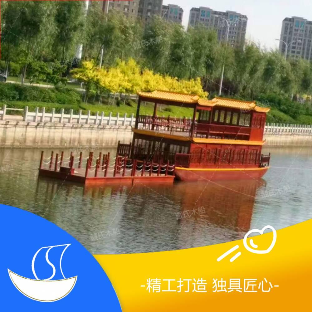 广东深圳水库观光船厂家哪里有 水上行驶的龙形画舫船 木船厂家在哪